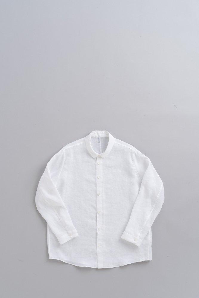FIRMUM スラブトリアセテートガーゼシャツ (ホワイト)