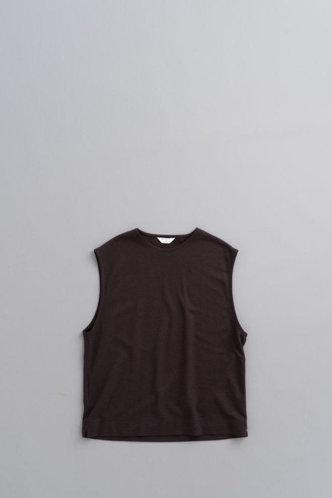 STILL BY HAND C/N Pullover Vest (Brown)