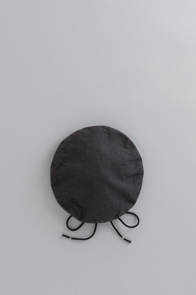 KIJIMA TAKAYUKI L/C Herringbone Beret (Charcoal Gray)