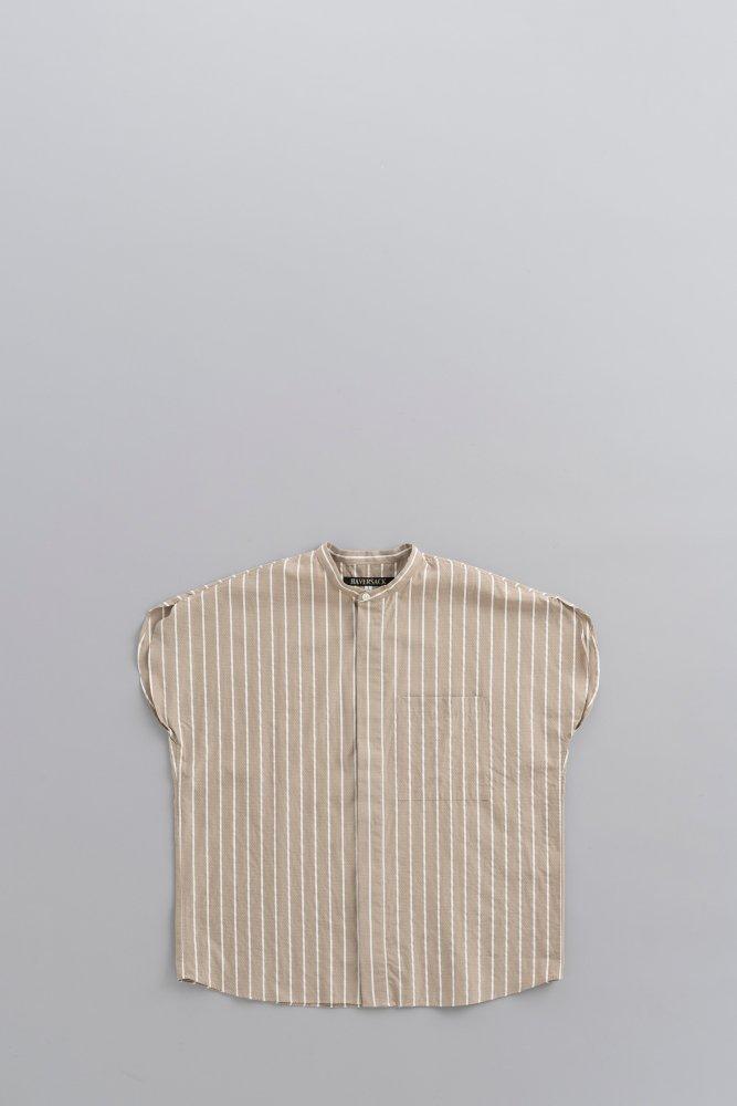 HAVERSACK ♀Dobby Stripe French Sleeve Shirt