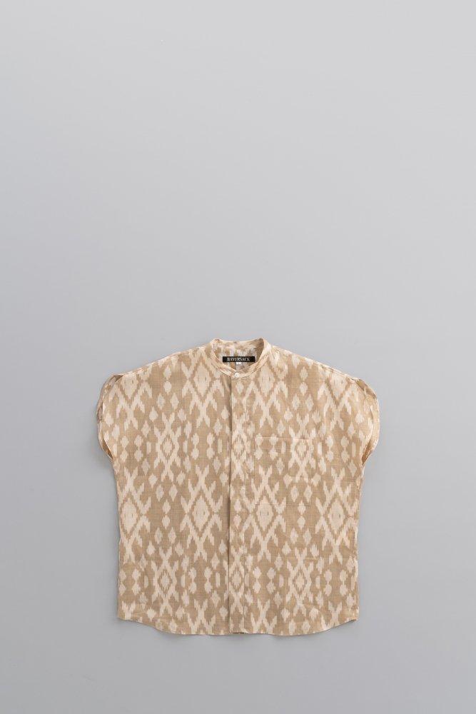 HAVERSACK ♀Ikat Print French Sleeve Shirt