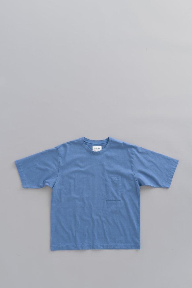 STILL BY HAND 1P Crew Neck T (Blue)