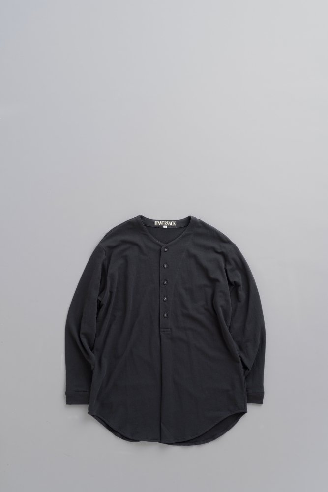 HAVERSACK Dry Inlay Henry Neck Pullover (Black)
