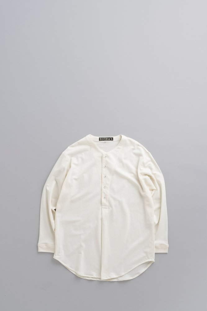 HAVERSACK Dry Inlay Henry Neck Pullover (White)