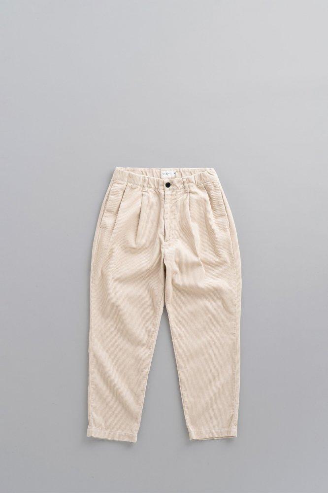 STILL BY HAND 8 Wale Corduroy Pants (Ecre)