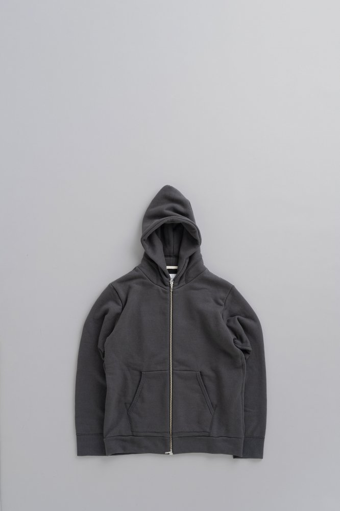 STILL BY HAND Zip up Parka (Charcoal)