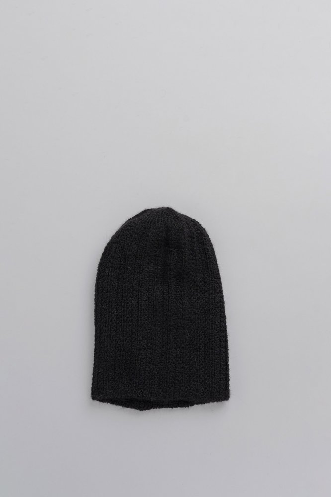 KIJIMA TAKAYUKI Alpaca Knit Rib Beanie (Black)