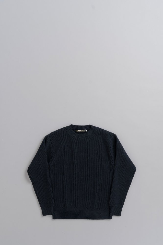 HAVERSACK 12G Pullover Knit (Navy)