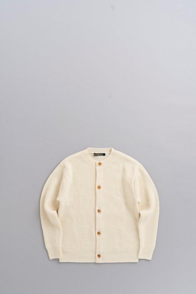 HAVERSACK 12G Knit Cardigan (White)