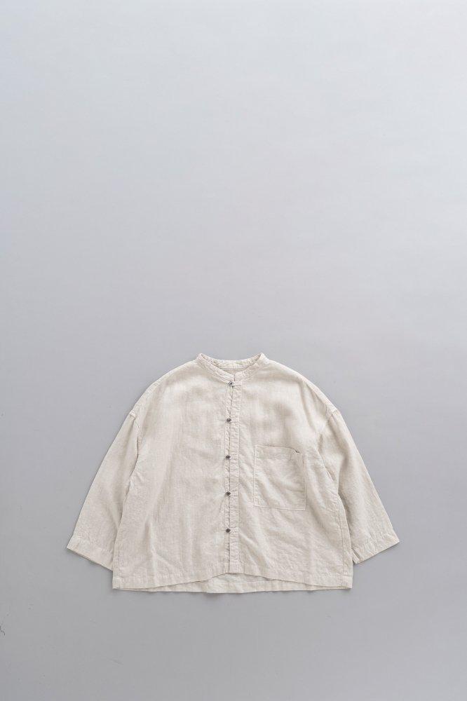 prit ♀Linen canvas Stand collar Big Shirts