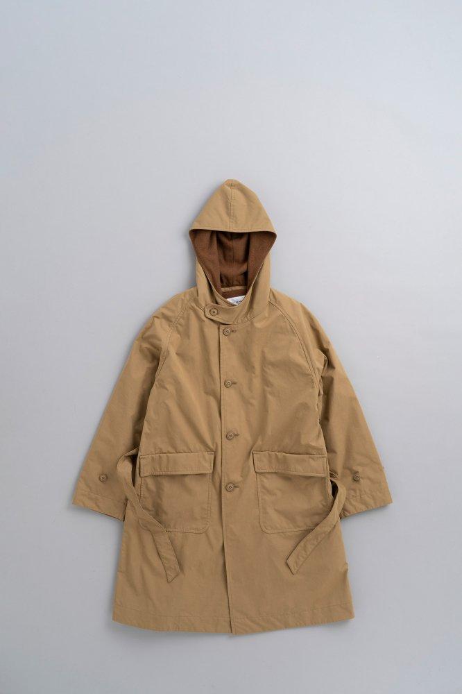 STILL BY HAND Hoodie Coat (Beige)