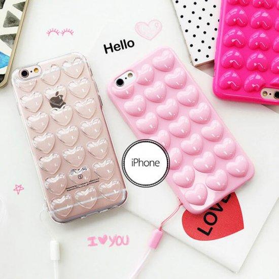 iPhone6sPlus/6Plus/6s/6/ ケース・カバー ハート キュート ラブリー ぷくぷく 可愛い オシャレ 個性的