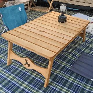 キャンプ用折りたたみローテーブル<194>