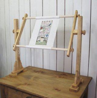 クロスステッチ用スクロールフレーム床用タイプ  木製ノブ