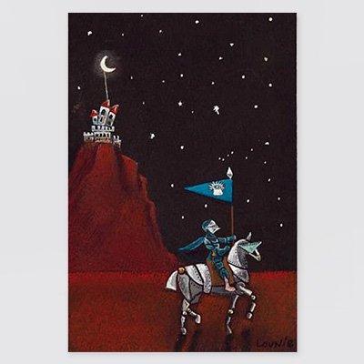 まりの・るうにいポストカード「視よ 抽象派の城頭たかく 腔腸旗ぞ 翻りぬ」