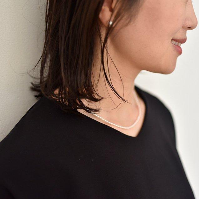 【12/20(木)12時半〜再販】淡水パールのネックレス