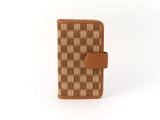 携帯ケース/鶴(茶)D付